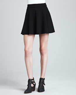 Splendid Stretch Knit Flare Skirt