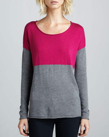 Two-Tone Colorblock Sweater