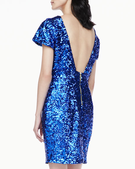 Starlette Short-Sleeve Sequined Dress