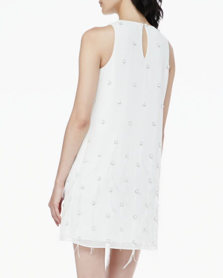 Anais Beaded Feather Dress