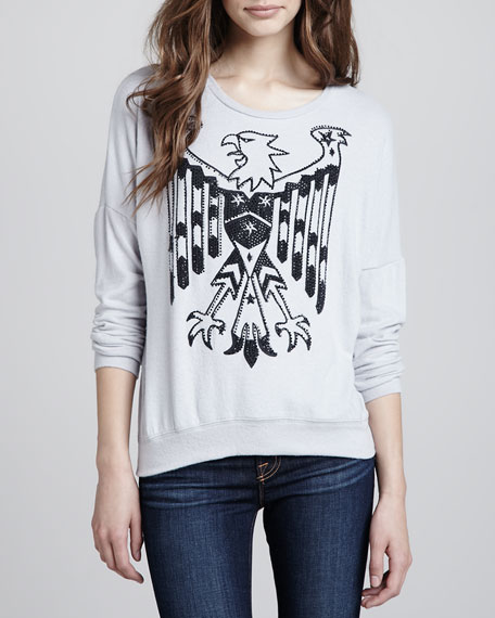 Eagle-Print Sweatshirt Top