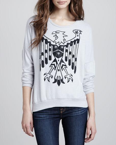 Eagle-Print Sweatshirt Top