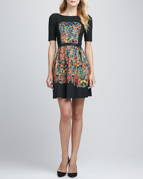 Confetti Spots Paneled Dress