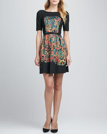 Confetti Spots Paneled Dress