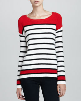 Splendid Pop Stripe Pullover Sweater