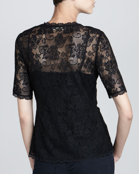Anna Stretch Lace Top