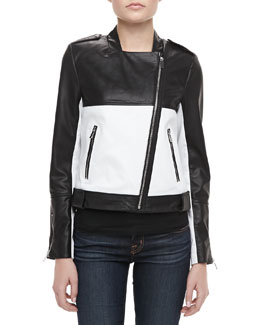 Bagatelle City Two-Tone Combo Moto Jacket