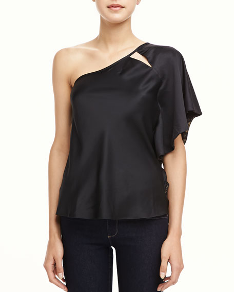Ava One-Shoulder Ruffle Top
