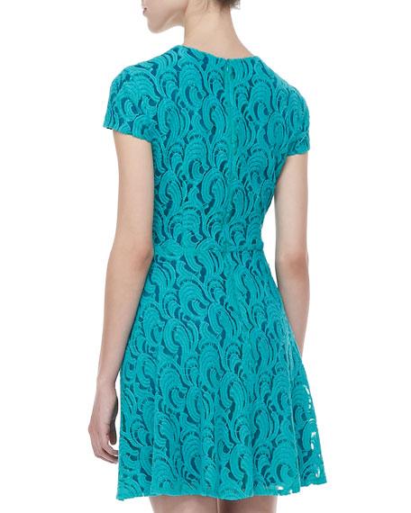 Delphine Waves Lace Dress