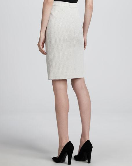 Dot-Jersey Pencil Skirt