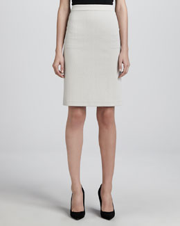 Armani Collezioni Dot-Jersey Pencil Skirt