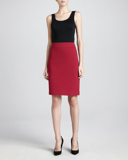 Armani Collezioni Crepe Pencil Skirt, Rasperberry