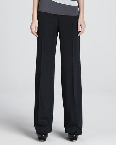 Armani Collezioni Faille Wide-Leg Pants