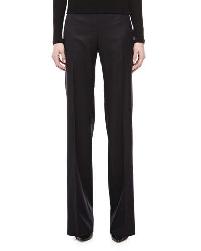 Armani Collezioni Micro Herringbone Pants, Navy