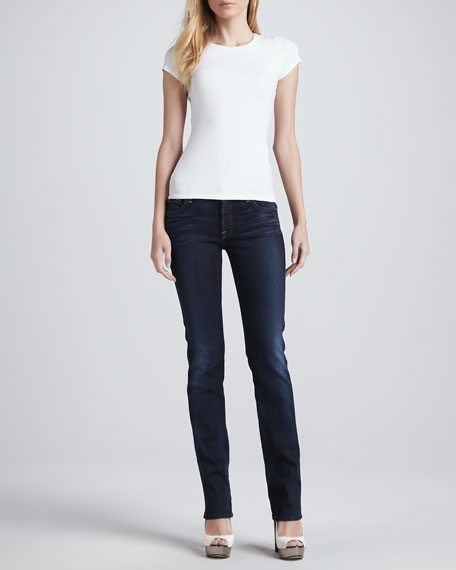 Kimmie Merci Blue Straight-Leg Jeans