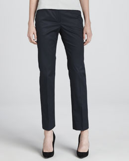 Armani Collezioni Cotton Twill Sport Pants, Blueberry
