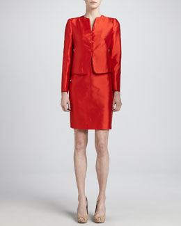 Armani Collezioni Gazar Skirt Suit, Grenadine