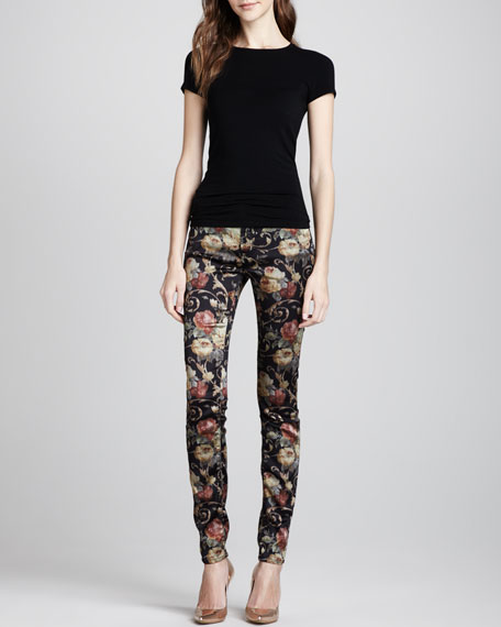 The Skinny Floral Chintz Pants