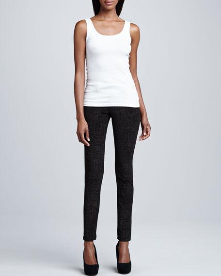 Sophia Disco Animal-Print Skinny Jeans