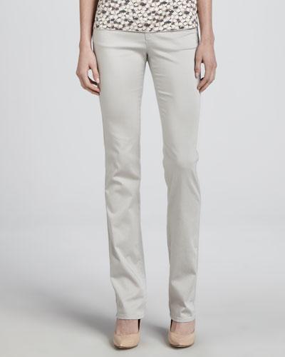 Armani Collezioni Straight-Leg Stretch Pants