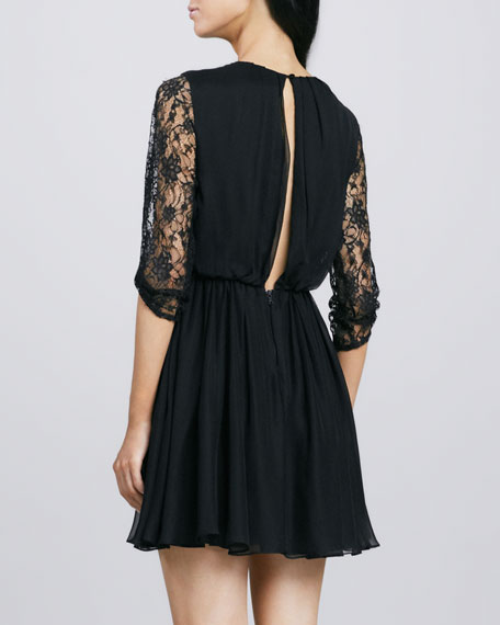 Conan Lace-Sleeve Dress