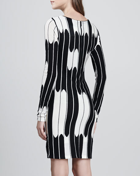 Tabitha Long-Sleeve Wave Dress