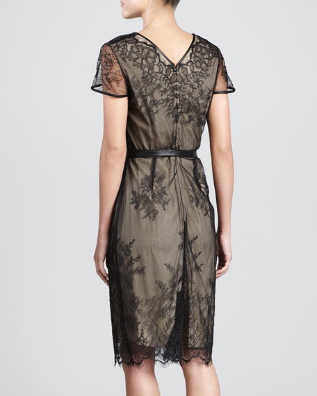 Nancy Lace Mesh Sheath Dress