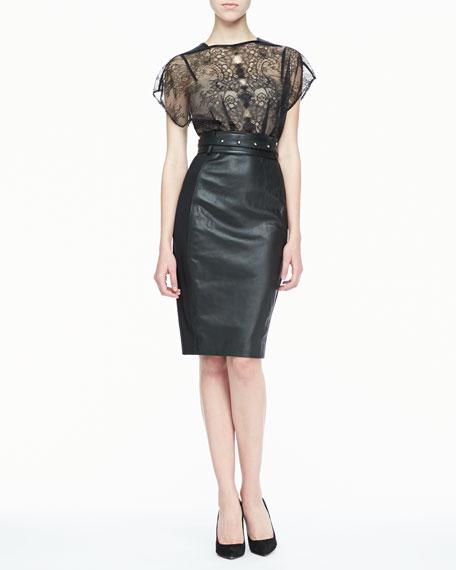 Mandy Lace & Leather Dress