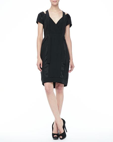 Lakota Bow-Waist Dress, Black