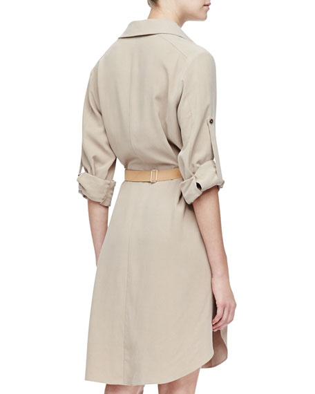 Belted Fuji Silk Shirtdress