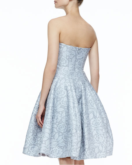 Strapless Full-Skirt Dress