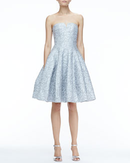 Halston Heritage Strapless Full-Skirt Dress
