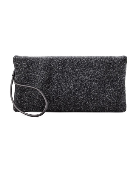 Galaxy Textured Leather Clutch Bag