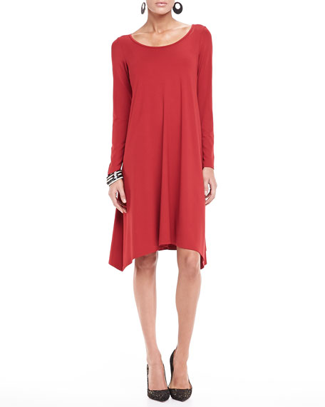Jersey Relaxed-Fit Dress, Petite