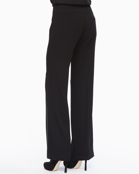 Eco Tropical Suiting Wide-Leg Trousers