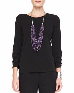 Eileen Fisher Silk Jersey Long-Sleeve Tee, Women's