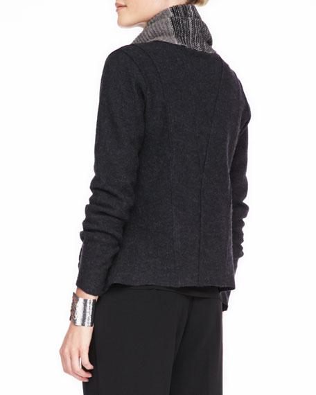 Lightweight Boiled Wool Jacket, Petite