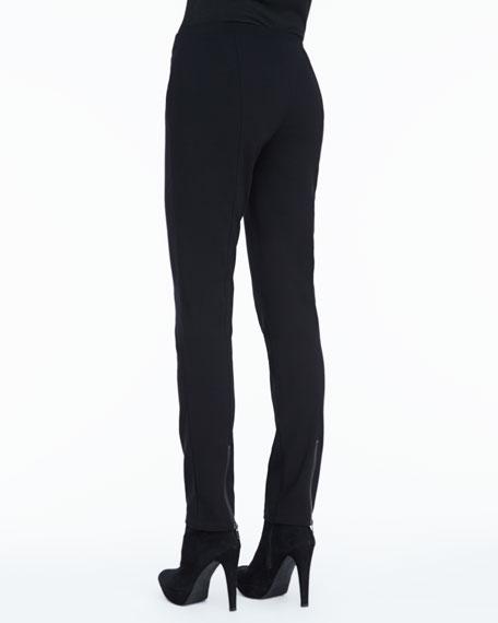 Zipper-Cuff Skinny Pants