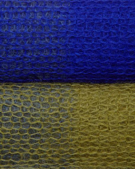 Plaited Mohair-Blend Jewel-Neck Tunic, Petite
