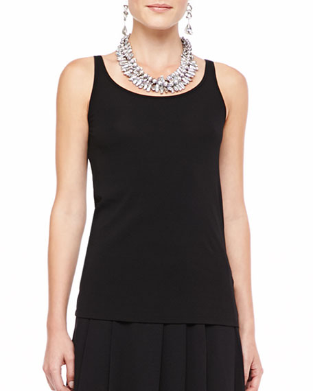 Eileen FisherSilk-Jersey Long Slim Camisole, Black