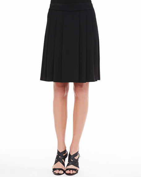 eileen fisher pleated jersey a line skirt