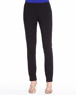 Eileen Fisher Zipper-Cuff Skinny Pants