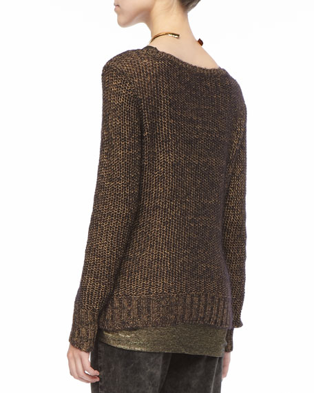 Metallic Sheen Sweater Top