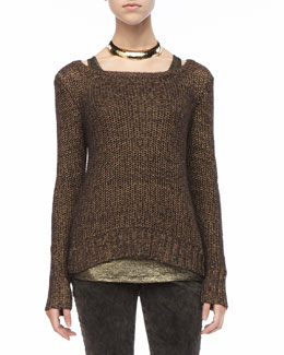 Eileen Fisher Metallic Sheen Sweater Top
