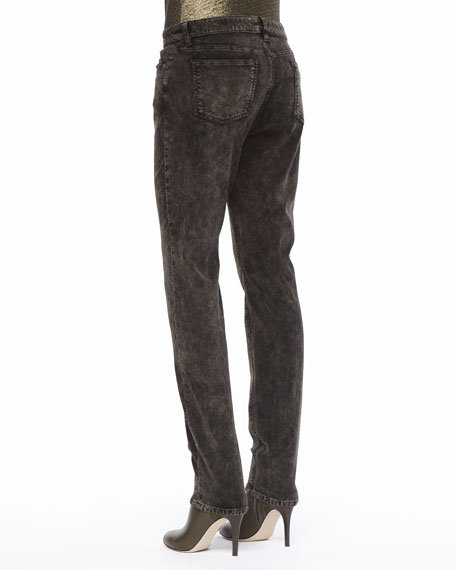 Mineral Washed Velveteen Skinny Jeans
