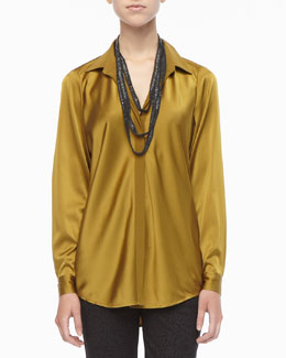 Eileen Fisher Silk Long-Sleeve Shirt