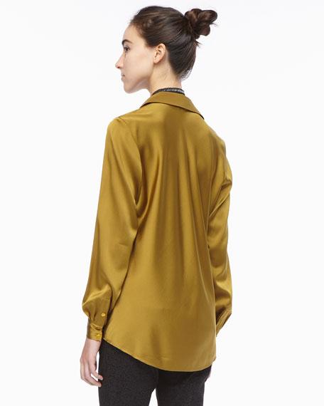 Silk Long-Sleeve Shirt, Women's