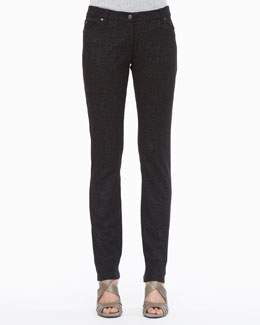 Eileen Fisher Patterned Stretch Skinny Jeans, Petite