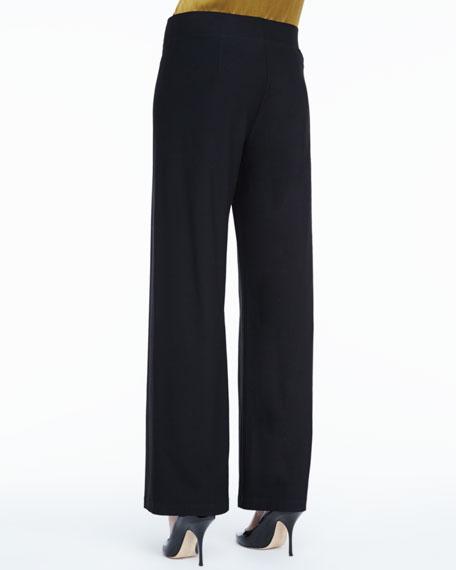 Stretch Crepe Modern Wide-Leg Pants
