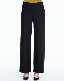 Eileen Fisher Stretch Crepe Modern Wide-Leg Pants